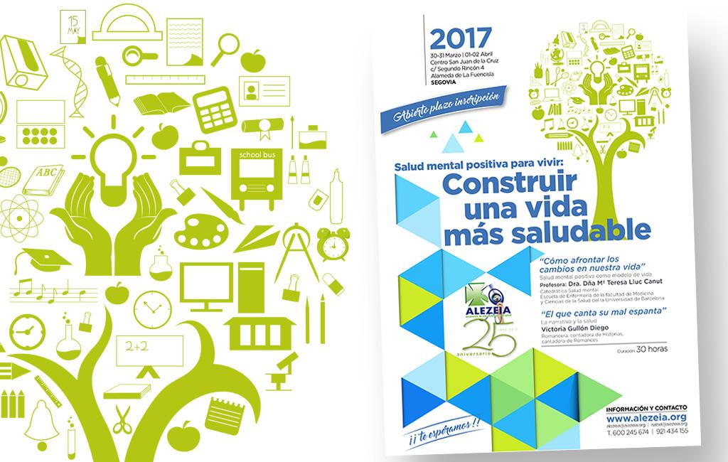 Asoc. Alezeia – Diseño imagen y cartel seminario 2017