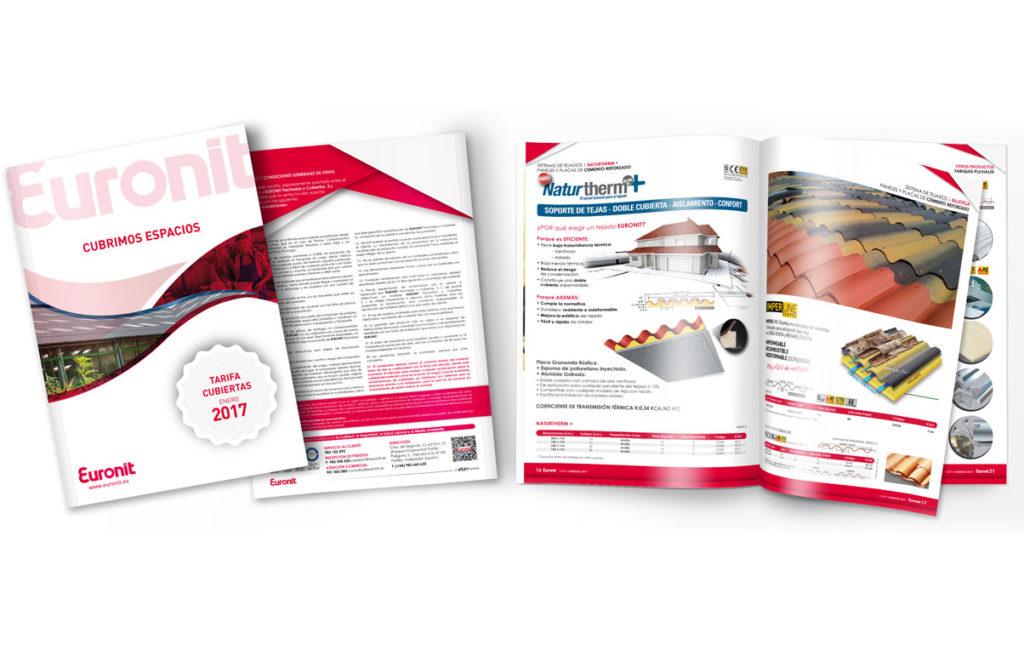 EURONIT – Diseño y maquetación tarifa cubiertas 2017