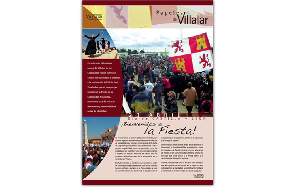Fundación Villalar CyL – Encarte Papeles de Villalar 2007