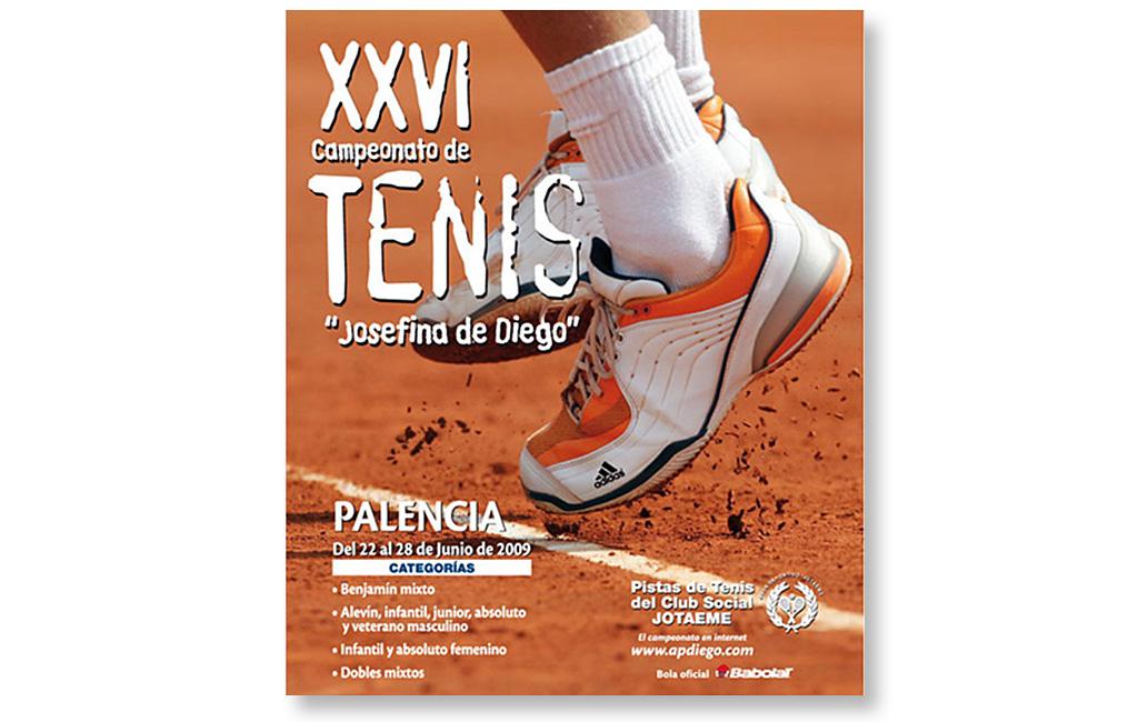 Patronato de Deportes de Palencia – Cartel Campeonato de Tenis 2009