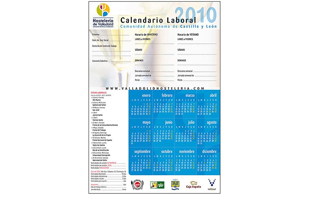 Asociación de Hostelería de Valladolid – Calendario laboral 2010