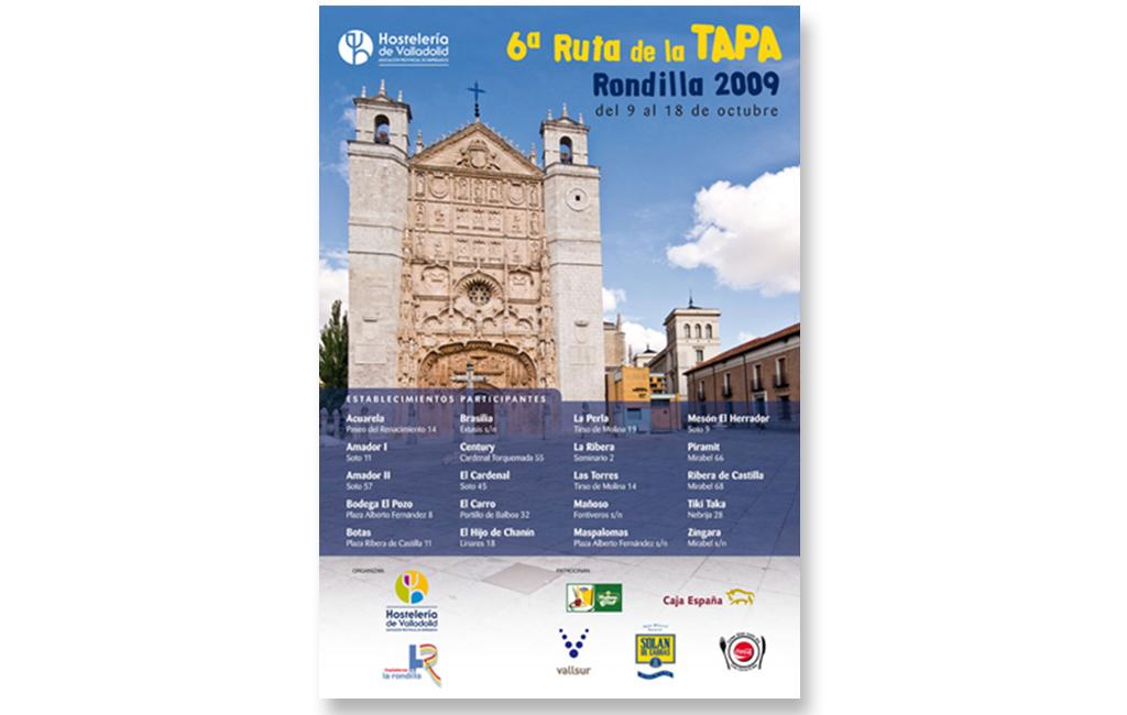 Asociación de Hostelería de Valladolid – Cartel 6ª Ruta de la Tapa