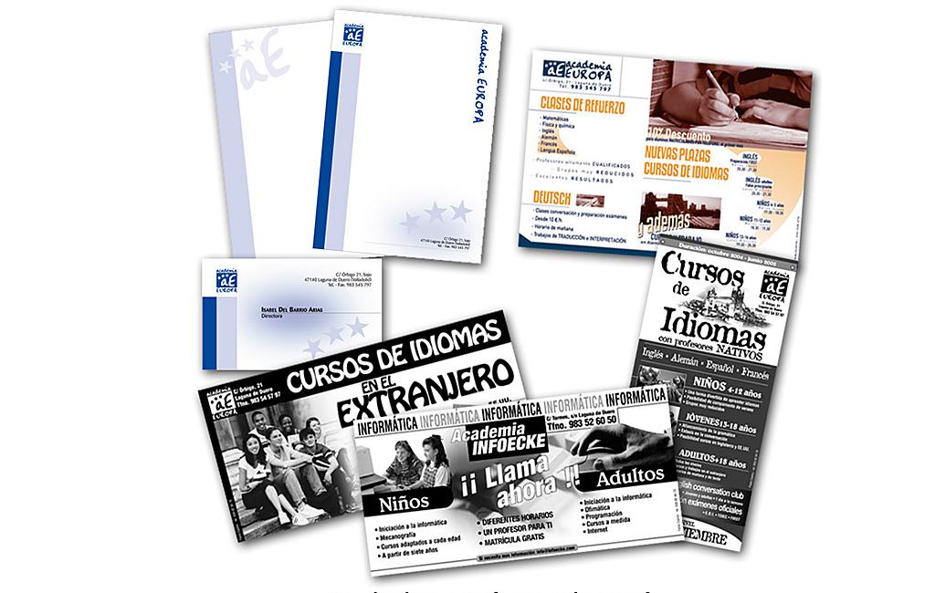 Publicidades para Academia Europa