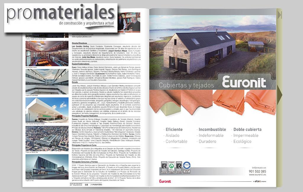 Euronit – Anuncio corporativo para la revista Promateriales