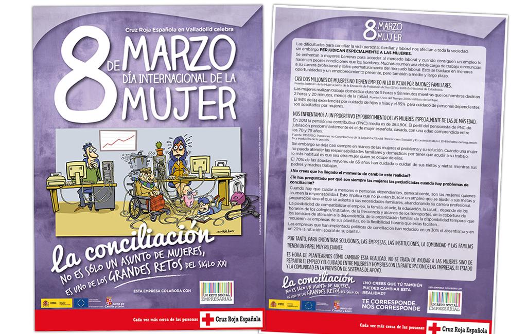 CRUZ ROJA – CARTEL PARA EL 8 DE MARZO, DÍA INTERNACIONAL DE LA MUJER
