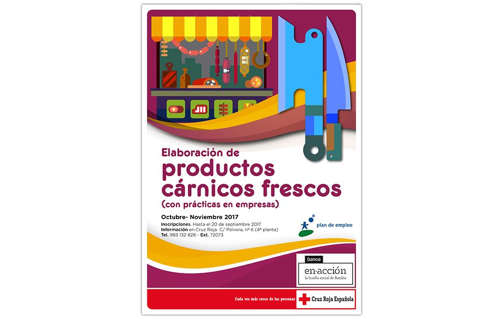 CRUZ ROJA – Cartel Curso Elaboración Productos  Carnicos