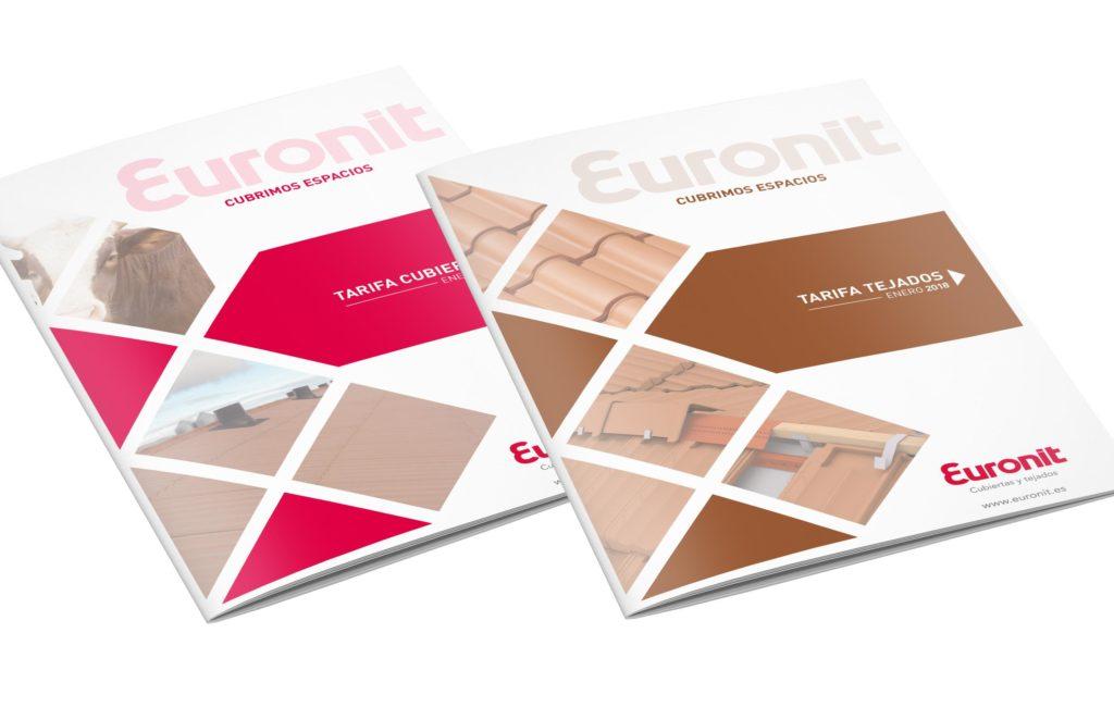 EURONIT – Maquetación tarifas de Cubiertas y Tejados para 2018