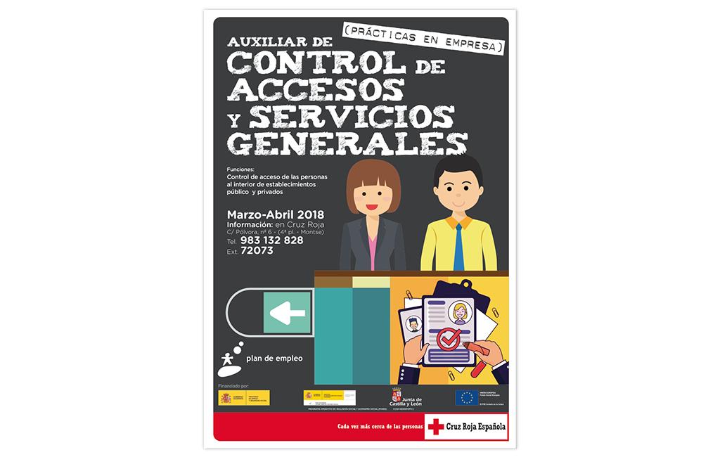 CRUZ ROJA – Cartel Curso Control de Accesos y Servicios Generales