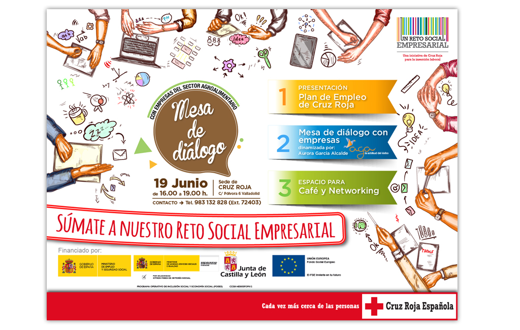 CRUZ ROJA – Cartel Presentación Mesa de Diálogo con Empresas del Sector Agroalimentario
