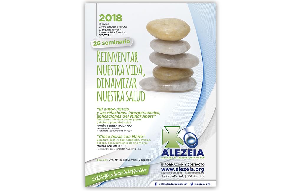 Asoc. Alezeia – Diseño imagen y cartel seminario 2018
