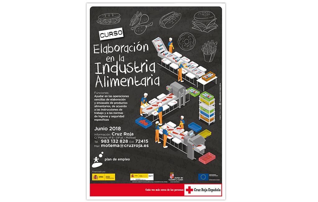 CRUZ ROJA – Cartel Curso Elaboración en la Industria Alimentaria