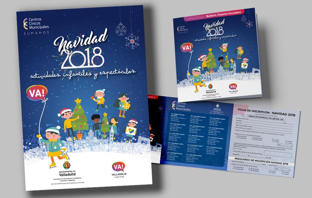 Ayuntamiento de Valladolid – Propuesta de Imagen para Campaña de Navidad 2018 en Centros Cívicos